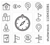set of 13 simple editable icons ... | Shutterstock .eps vector #1130432081