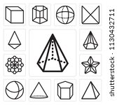 set of 13 simple editable icons ... | Shutterstock .eps vector #1130432711