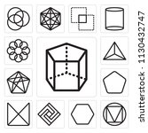 set of 13 simple editable icons ... | Shutterstock .eps vector #1130432747