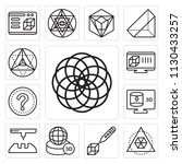 set of 13 simple editable icons ... | Shutterstock .eps vector #1130433257