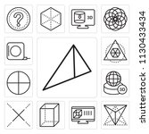 set of 13 simple editable icons ... | Shutterstock .eps vector #1130433434