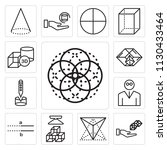 set of 13 simple editable icons ... | Shutterstock .eps vector #1130433464