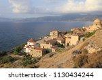 downtown view of monemvasia... | Shutterstock . vector #1130434244