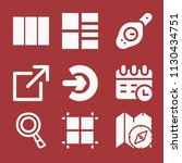 filled set of 9 interface icons ... | Shutterstock .eps vector #1130434751