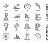 set of 16 icons such as storm ...   Shutterstock .eps vector #1130435051