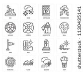 set of 16 icons such as help ... | Shutterstock .eps vector #1130435141