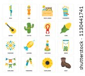 set of 16 icons such as boot ...