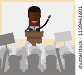 businessman or politician afro... | Shutterstock .eps vector #1130461601