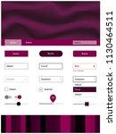 dark pink vector design ui kit...