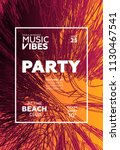 party poster for night club.... | Shutterstock .eps vector #1130467541