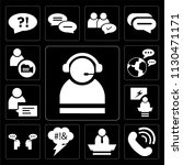 set of 13 simple editable icons ... | Shutterstock .eps vector #1130471171