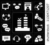 set of 13 simple editable icons ... | Shutterstock .eps vector #1130471207