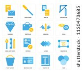 set of 16 icons such as rgb ...
