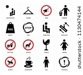 set of 16 icons such as... | Shutterstock .eps vector #1130474144