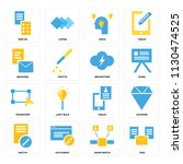 set of 16 icons such as tags ...