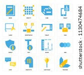 set of 16 icons such as pantone ...