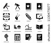 set of 16 icons such as pdf...