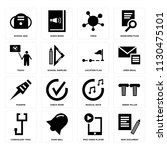 set of 16 icons such as new...