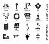 set of 16 icons such as press ...
