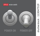 cool realistic toggle switch...   Shutterstock .eps vector #113047519