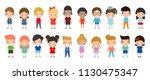 happy kids cartoon collection.... | Shutterstock .eps vector #1130475347