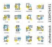 set of 16 icons such as payment ... | Shutterstock .eps vector #1130476451