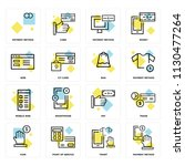 set of 16 icons such as payment ... | Shutterstock .eps vector #1130477264