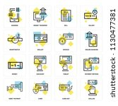 set of 16 icons such as dollar  ... | Shutterstock .eps vector #1130477381