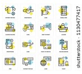 set of 16 icons such as tshirt  ... | Shutterstock .eps vector #1130477417