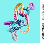 multicolored decorative circles.... | Shutterstock .eps vector #1130477861
