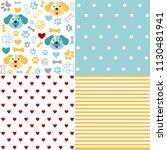 set of animal seamless patterns ... | Shutterstock .eps vector #1130481941