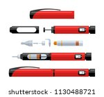 part of diabetic insulin pen | Shutterstock .eps vector #1130488721