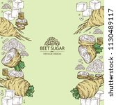 background with beet sugar ... | Shutterstock .eps vector #1130489117