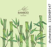 background with bamboo  bamboo... | Shutterstock .eps vector #1130489147
