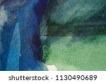 abstract green and blue hue... | Shutterstock . vector #1130490689