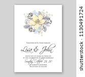 yellow jasmine floral wedding... | Shutterstock .eps vector #1130491724