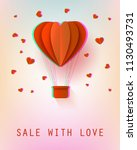 sale with love poster with... | Shutterstock .eps vector #1130493731