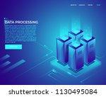 cloud data storage big data... | Shutterstock .eps vector #1130495084