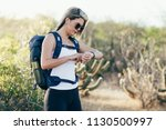 portrait of a pretty female...   Shutterstock . vector #1130500997