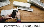paris  france   apr 12 2018 ... | Shutterstock . vector #1130504561