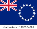 cook islands national flag ... | Shutterstock .eps vector #1130504681