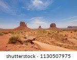 east and west mitten buttes ... | Shutterstock . vector #1130507975