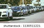 traffic jam on busy road cars... | Shutterstock . vector #1130511221