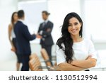 closeup. executive woman in the ... | Shutterstock . vector #1130512994