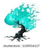 burning flaming bush | Shutterstock .eps vector #1130516117