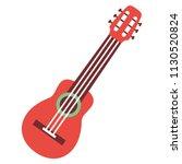 vector cartoon guitar icon... | Shutterstock .eps vector #1130520824