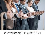 close up.the business team... | Shutterstock . vector #1130521124