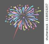 fireworks rocket explodes in...   Shutterstock .eps vector #1130523257