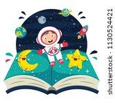 vector illustration of spaceman | Shutterstock .eps vector #1130524421