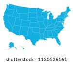 united states of america map | Shutterstock .eps vector #1130526161